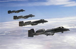 Photo of four A10 tank busters